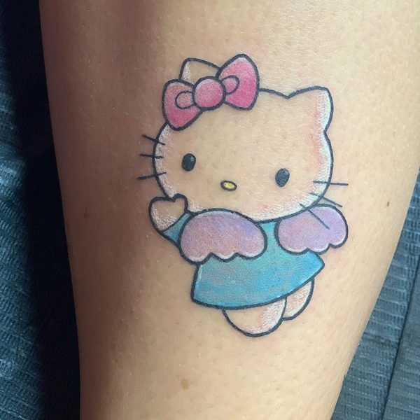 Hello Kitty Ankle Tattoo